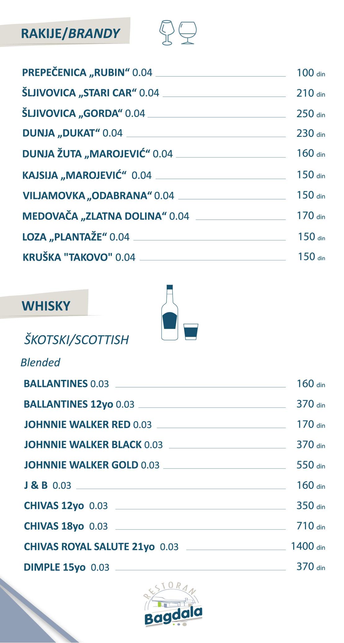 Rakije/Whisky