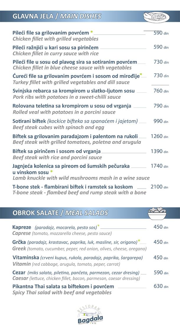 Glavna jela / Obrok salate