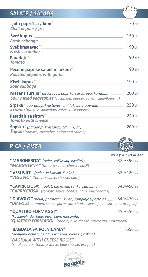 Salate / Pizza