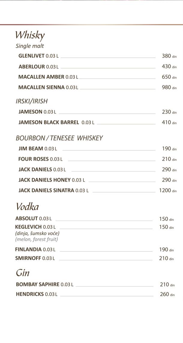 Viski, Vodka, Gin / Whiskey, Vodka, Gin