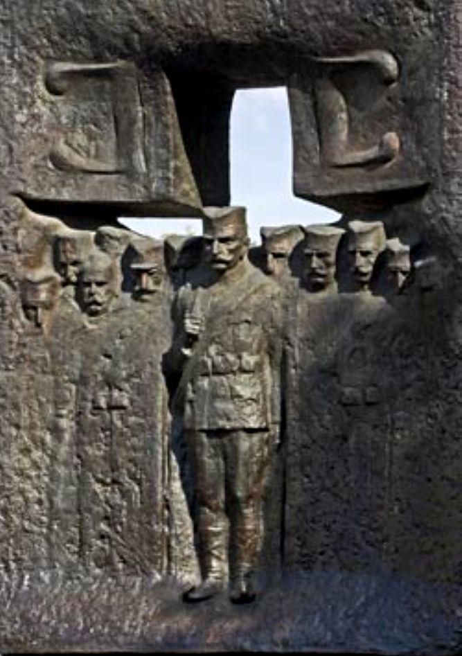 Spomenik Srpskim Ratnicima Kraj Fontane Restoran Bagdala Krusevac
