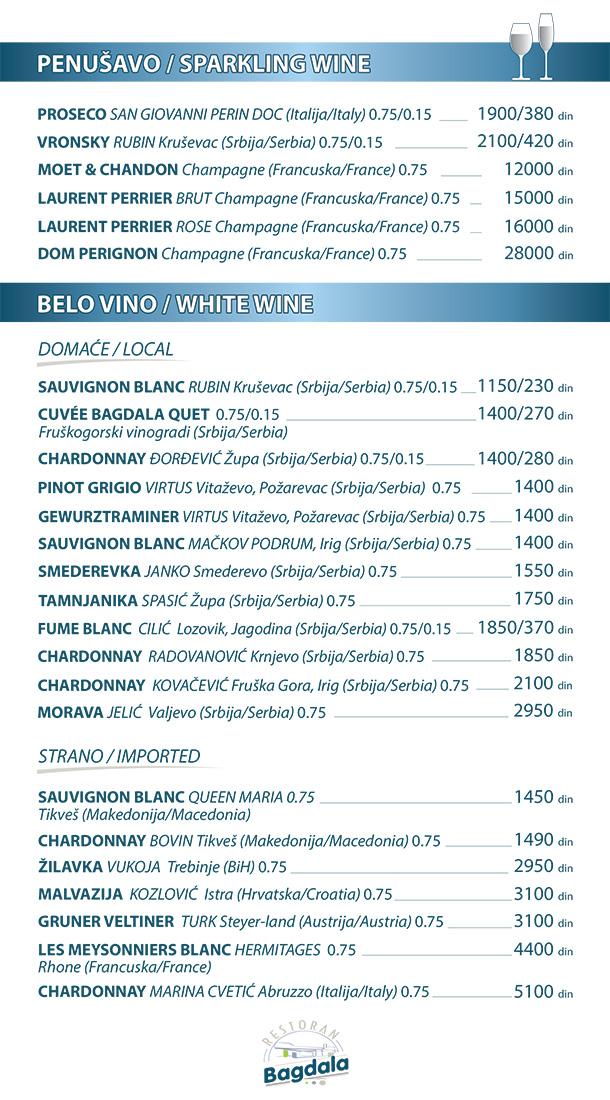Penušavo / Belo vino