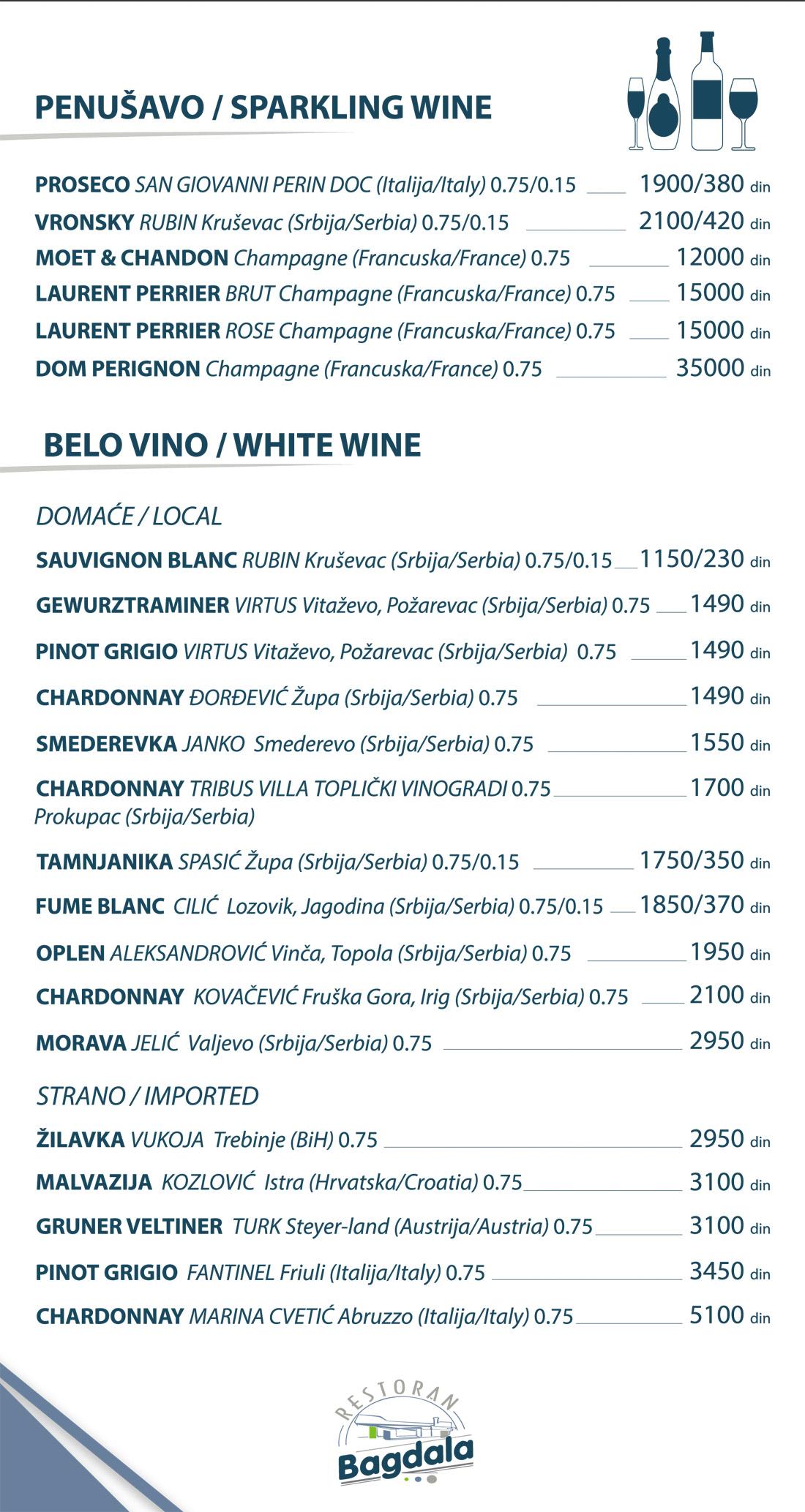 Belo vino / Penušavo